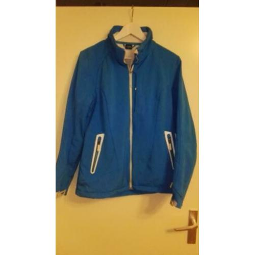 Blauwe softshell ski-jas mt 42 dames Ademend Windstopper