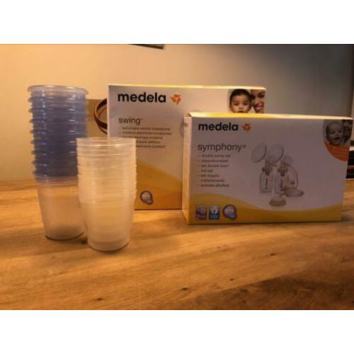 Medela swing + symphony (incl extra Philips avent cups)