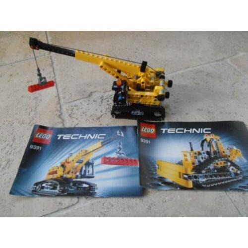 lego 9391 technic hijskraan en bulldozer 2 in 1