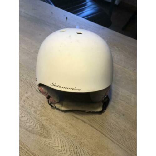 Witte skihelm 51-53 mt salomon